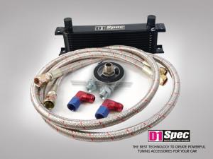 Ölkühler Set 11 Reihen schwarz mit Thermostat M20 Gewinde