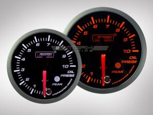 Öldruckanzeige Racing Premium Serie Orange/ Weiss 52mm