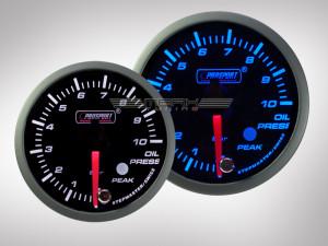 Öldruckanzeige Racing Premium Serie Blau/Weiss 60mm