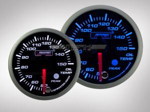 Öltemperatur Anzeige Racing Premium Serie Blau/ Weiss 52mm