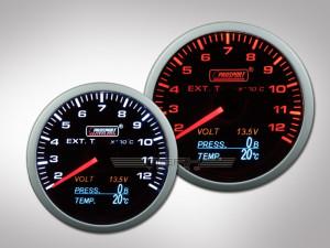 Prosport 4in1 Abgastemperatur Anzeige (inkl. Druck, Temperatur, Volt)