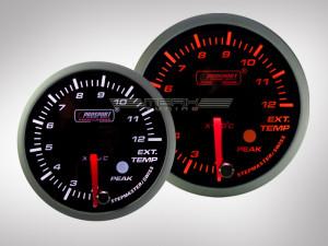 Abgastemperatur Anzeige Racing Premium Serie Orange/ Weiss 52mm