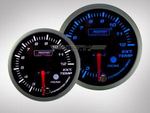 Abgastemperatur Anzeige Racing Premium Serie Blau/Weiss 60mm