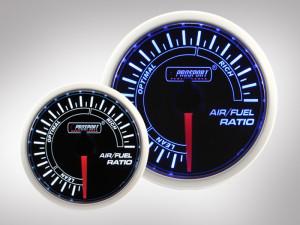 Benzin-Luft-Gemisch Anzeige BF Performance Serie Blau/ Weiss 52mm