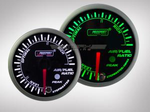 Benzin-Luft Anzeige Gemisch Racing Premium Serie Grün/ Weiss 52mm