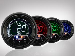 Benzindruck Anzeige EVO Premium Serie 60mm