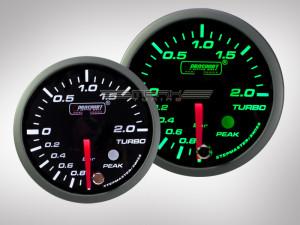 Ladedruck Anzeige Racing Premium Serie Grün/ Weiss 52mm
