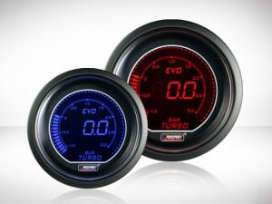 Ladedruck Anzeige Rot/ Blau EVO Serie 52mm