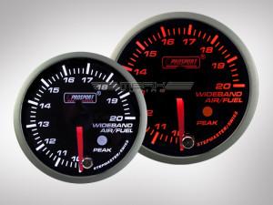 Breitband Lambda Anzeige Racing Premium Serie Orange/ Weiss 52mm