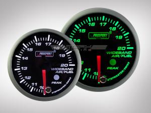 Breitband Lambda Anzeige Racing Premium Serie Grün/ Weiss 52mm