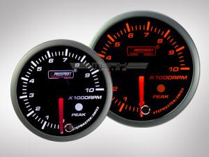 Drehzahlmesser Racing Premium Serie Orange/ Weiss Prosport 60mm