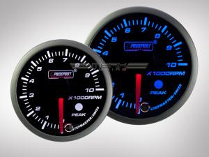 Drehzahlmesser Racing Premium Serie Blau/ Weiss 52mm