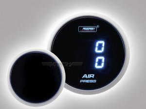 Luftfahrwerk Digital Anzeige Airride Dual Serie 52mm Blau