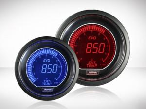 Abgastemperatur Anzeige Rot/ Blau EVO Serie 52mm