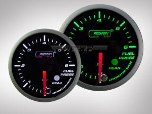 Benzindruck Anzeige Racing Premium Serie Grün/Weiss 60mm