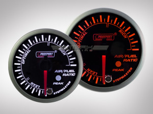 Benzin-Luft Anzeige Gemisch Racing Premium Serie Orange/ Weiss 52mm