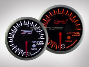 Benzin-Luft Gemisch Anzeige Racing Premium Serie Orange/ Weiss 60mm
