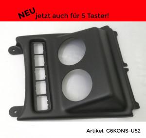 Instrumentenhalter Mittelkonsole 5 Taster VW Golf 5+6