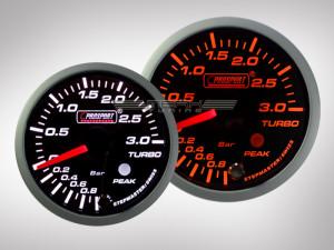 3Bar Ladedruck Anzeige Racing Premium Serie Orange/ Weiss 52mm