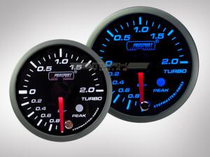 Ladedruck Anzeige Racing Premium Serie Blau/ Weiss 52mm