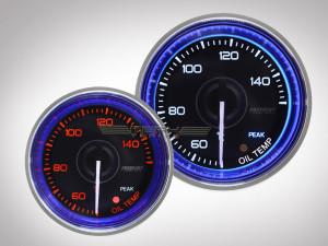 Öltemperaturanzeige Crystal-Blue Serie 52mm