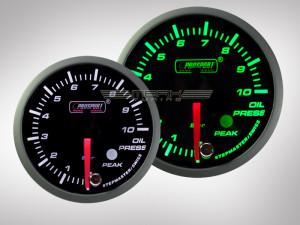 Öldruck Anzeige Racing Premium Serie Grün/Weiss 60mm