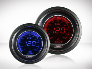 Öltemperatur Anzeige Rot/ Blau EVO Serie 52mm