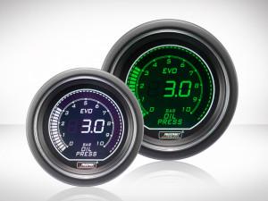 Öldruckanzeige elektrisch Grün/ Weiss EVO Series 52mm