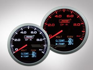 Prosport 4in1 Öldruckanzeige (inkl. Öltemperatur, Wassertemperatur, Volt)