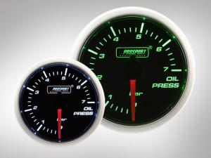 Öldruck Anzeige BF Performance Serie Grün/ Weiss 52mm