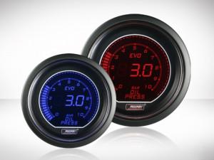Öldruckanzeige elektrisch Rot/ Blau EVO Serie 52mm