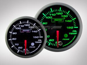 Öltemperatur Anzeige Racing Premium Serie Grün/ Weiss 52mm