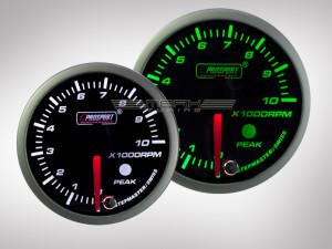 Drehzahlmesser Racing Premium Serie Grün/ Weiss 52mm