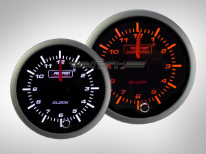 Uhranzeige Racing Premium Serie Orange/ Weiss 52mm