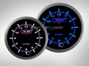 Uhranzeige Racing Premium Serie Blau/ Weiss 52mm