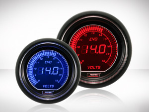 Voltanzeige Rot/ Blau EVO Series 52mm