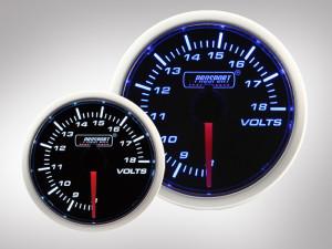 Voltmeter BF Performance Serie Blau/ Weiss 52mm