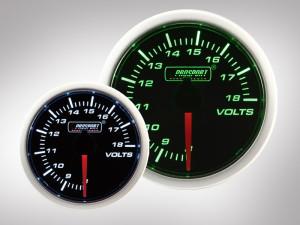 Voltmeter BF Performance Serie Grün/ Weiss 52mm
