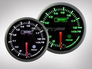 Voltanzeige Racing Premium Serie Grün/Weiss 60mm