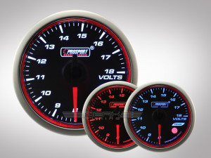 Voltmeter WRC HALO Premium Serie 52mm