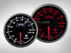 Voltmeter Racing Premium Serie Orange/ Weiss 52mm