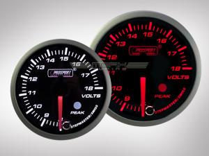 Voltanzeige Racing Premium Serie Orange/ Weiss 52mm