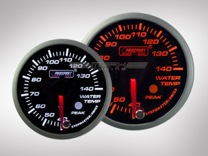 Wassertemperatur Racing Premium Serie Orange/ Weiss Prosport 60mm