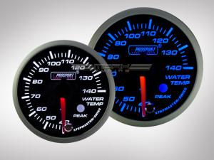 Wassertemperatur Anzeige Racing Premium Serie Blau/ Weiss 60mm