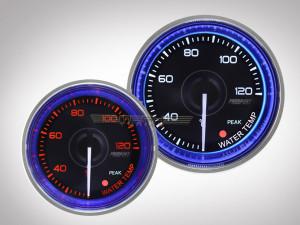 Wassertemperaturanzeige Crystal-Blue Serie 52mm