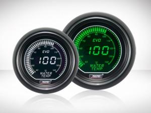 Wassertemperatur Anzeige Grün/ Weiss EVO Series 52mm