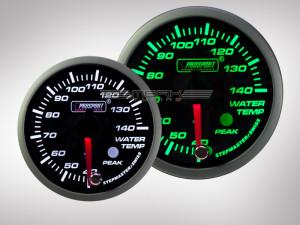 Wassertemperatur Anzeige Racing Premium Serie Grün/ Weiss 52mm