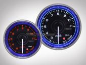 Abgastemperaturanzeige Crystal-Blue Serie 52mm