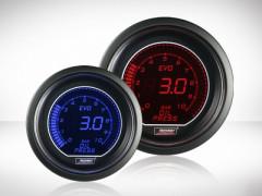 Öldruck Anzeige elektrisch Rot/ Blau EVO Serie 52mm