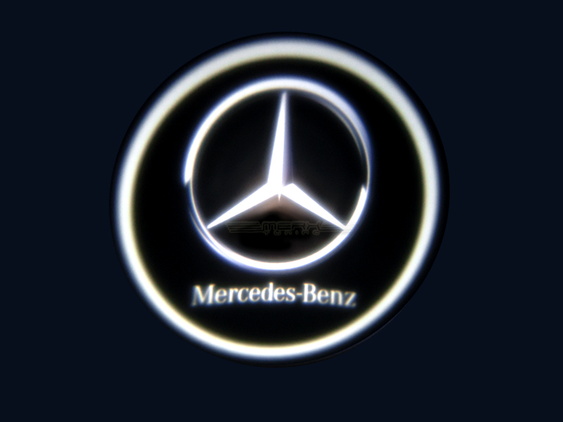 Led logo laser door light mercedes benz for Mercedes benz symbol light